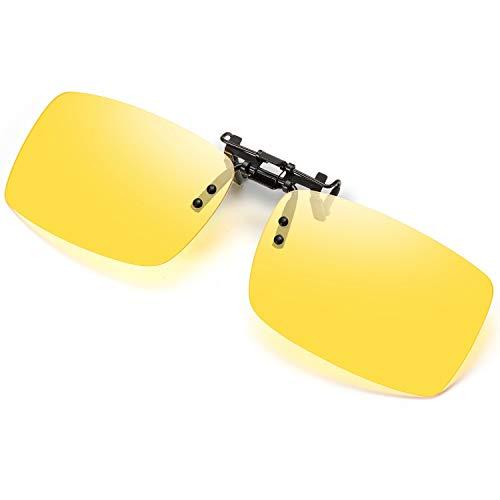 クリップサングラス 偏光クリップ眼鏡 UVカット 夜間運転用 昼夜兼用 男女兼用 偏光 サングラス メガネにつける クリップオン 跳ね上げタイプ