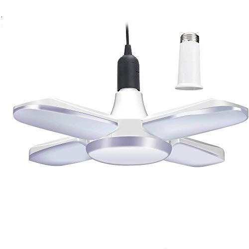 LED Basement Lights,6000LM 60W Led Garage Lights LED Shop Light,Deformable LED Light Bulbs Garage Ceiling Lighting,Workshop Light
