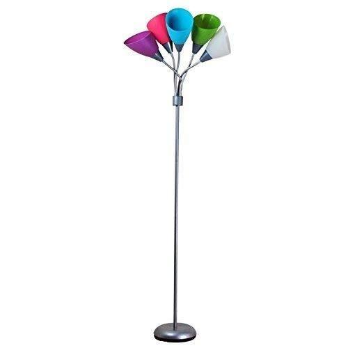 Busirsiz Conducido creativo cubierta romántica del color Ambiente luces decorativas Habitación Sala Manera moderna lámpara de pie, Eye-Cuidado Vertical luz del piso