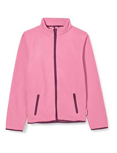 Playshoes Mädchen Fleece-jacke Farbig Abgesetzt Jacke, Pink, 98 EU