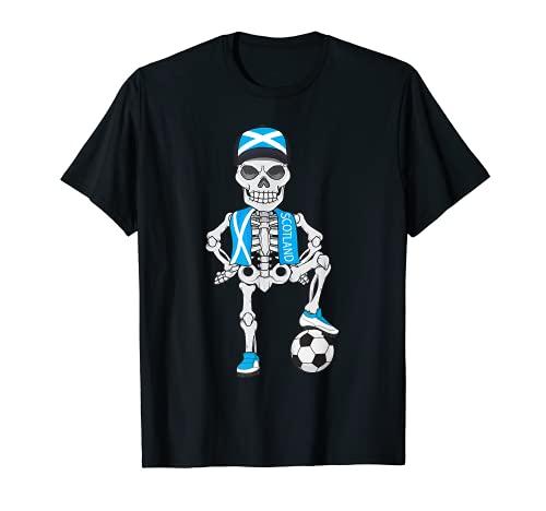 Scozia Calcio Skeleton Fan Team Gift Maglietta