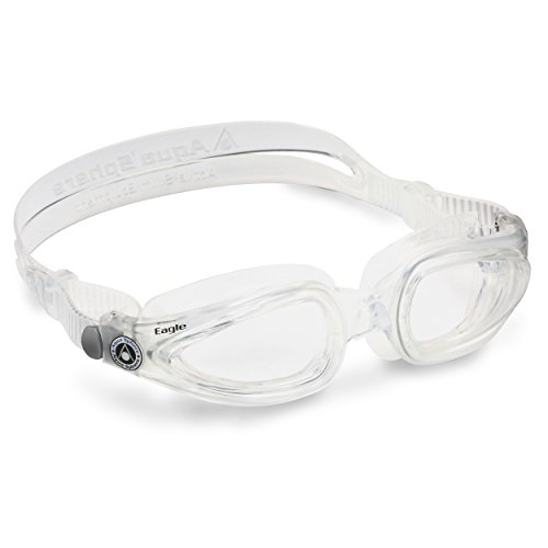 Aqua Sphere Unisex-Adult Eagle Schwimmbrille, transparent/transparentes Glas, Einheitsgröße