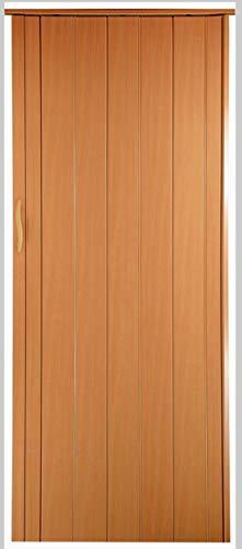 Falttür Schiebetür Tür buche farben Höhe 203 cm Einbaubreite bis 93 cm Doppelwandprofil Neu