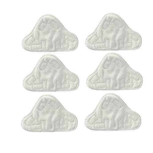 LAANCOO Tissu Microfibre Lavable Pad, Convient pour Vax, Bionaire, Efbe-Schotte, Montiss & Delta Steam Mop (6 Packs)