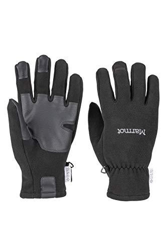 Marmot INFINIUM Windstopper Glove Gants Polaires, Chauds, Coupe-Vent, Hydrofuges, pour Outdoor, Vélo, Course à Pied Black FR: M (Taille Fabricant: M)