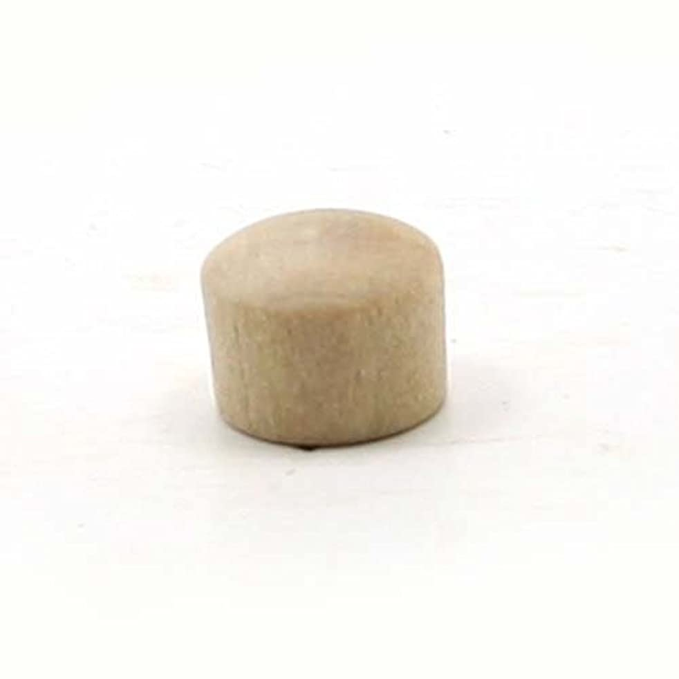 Mylittlewoodshop - Pkg of 12 - Roundhead Plug Button - 3/8 inches in diameter unfinished wood(WW-BR0375-12)