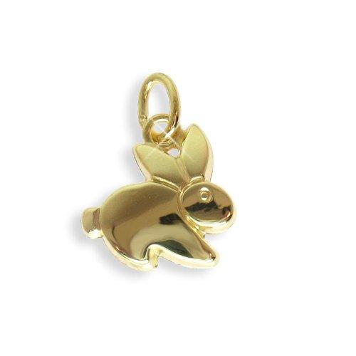 Hase Osterhase Charms Anhänger echt 14 Karat Gold 585 (Art.206025)
