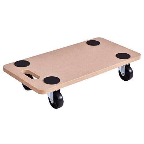 Goplus Moving Dolly Heavy Duty Wood Furniture Dollies Movers Carrier (23
