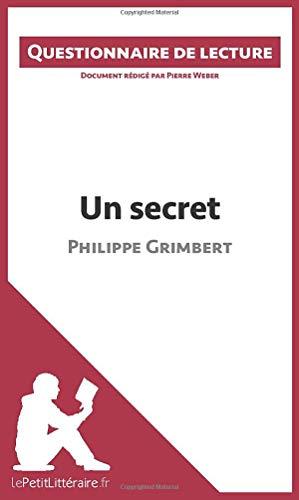 Un secret de Philippe Grimbert: Questionnaire de lecture