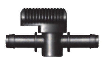 Preisvergleich Produktbild Schlauchverbinder,  PP,  Absperrhahn,  2x Tülle 13mm