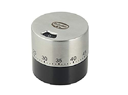 Dr. Oetker Mechanischer Kurzzeitmesser (bis 60 min) Edelstahl, Küchenwecker, funktioniert ganz ohne Batterie bis 1 Stunde, Menge: 1 Stück