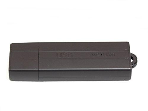 sellgal-tec ® MQ-U350DE mod anthrazit - USB-Stick Diktiergerät mit Aufnahmeaktivierung durch Geräusche oder Daueraufnahme. Bis zu 18 Tage Standby, Diktiergerät, USB Stick 16GB