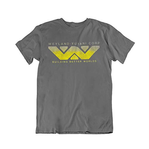 Jonny Cotton Movie Fan-Art - Weyland Yutani Corp - Mens Ladies Unisex Film T-Shirt Charcoal