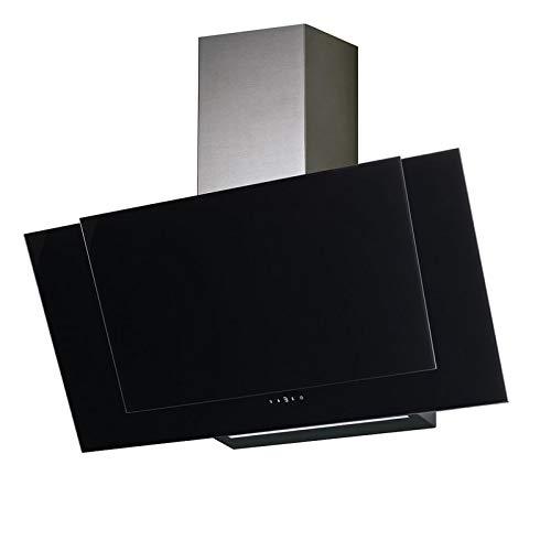 Allcata VALIO 900 XGBK Dunstabzugshaube 90cm kopffrei schwarz Glas 6 Leistungsstufen mit Nachlaufautomatik LED-Beleuchtung 44 dB(A) bis 900 m³/h