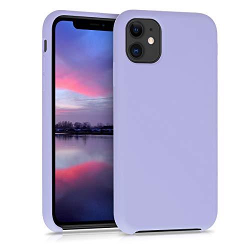 kwmobile Hülle kompatibel mit Apple iPhone 11 - Handyhülle gummiert - Handy Hülle in Pastell Lavendel