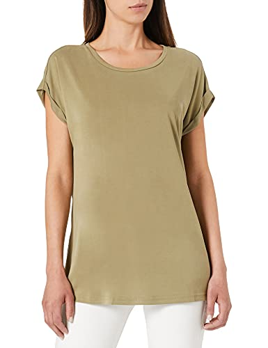 Urban Classics Ladies Modal Extended Shoulder Tee T-Shirt, Cachi, M Donna