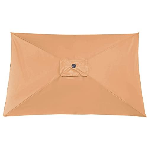 æ— Parasol de repuesto para sombrilla de patio, rectangular, 6 costillas, 2...