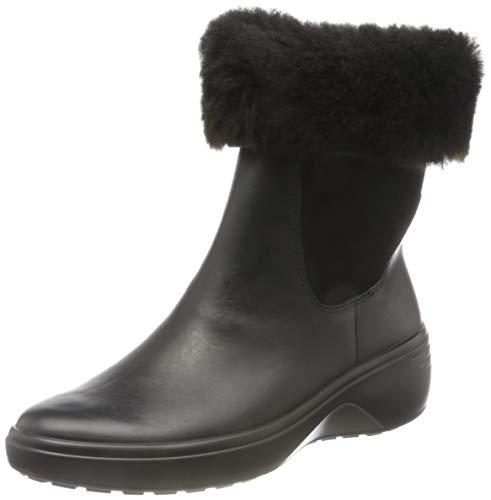 ECCO Damen Soft 7 Wedge Tred BlackBlack Chelsea Boot, Schwarz (BLACK), 39 EU