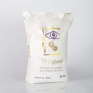 BruGlass BlasterGlass Hi tech arena de vidrio técnico abrasivo para limpieza por chorro - Saco de 10 Kg