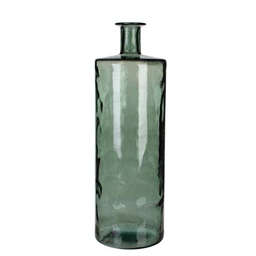 MICA Decorations Guan Flasche/Vase, Glas, grau, H. 75 cm D. 25 cm