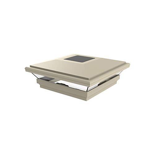 """Barrette Outdoor Living 73025652, Sand 5""""x5"""" Contemporary Solar Light"""
