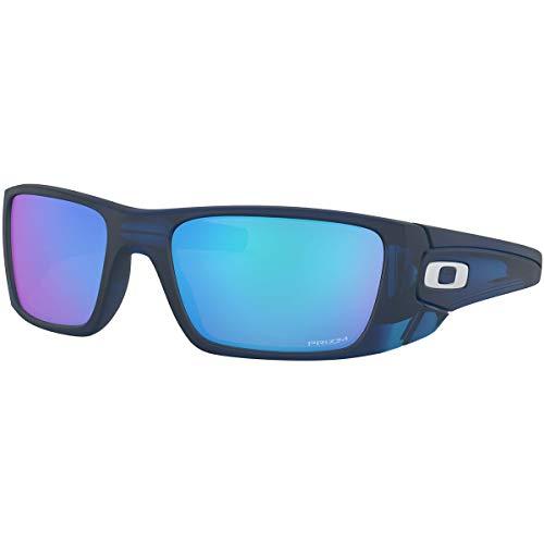 Oakley Men's OO9096 Fuel Cell Rectangular Sunglasses, Matte Translucent Blue/Prizm Sapphire, 60 mm