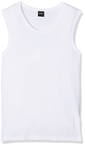 BOSS Herren SL RN 2P CO/EL T-Shirt, Weiß (White 100), XX-Large (2er Pack)