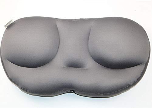 Deep Sleep Addiction 3D Almohada Ergonómica Funda De Almohada De Poliéster Lavable con Micro Airballs Almohadas De Cuello De Viaje De Relleno,D