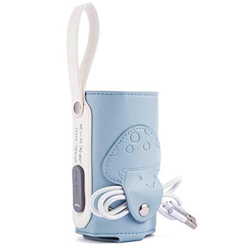 Calienta Biberones Biberón USB Warmer bolsa, botella de leche del bebé Calentador Portátil Alimentación del Lactante Leche Alimentos de aislamiento del calentador termostato más caliente bolsa con pue