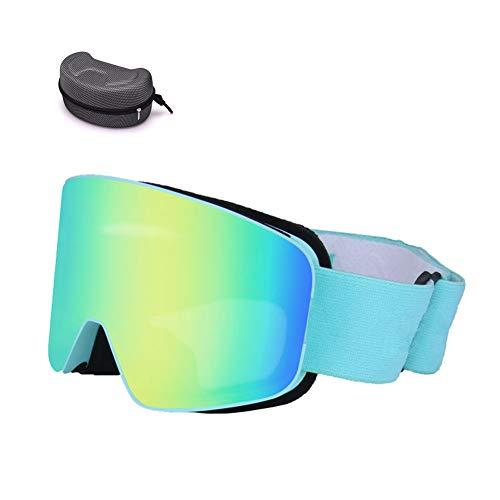 Unisex Ski Brille, Winter Sport Im Freien Kinder Männer Und Frauen Anti-Fog-Ski Ski Brille Sonnenbrille,Lightblueb,OneSize