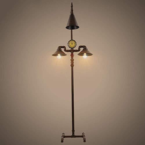2-lampen Loft Retro industrie vloerlamp nostalgie smeedijzeren buis staande lamp Europese stijl eetkamer slaapkamer tafellamp schrijftafel licht, D-B