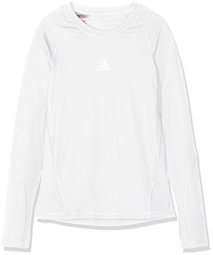 adidas Ask LS Tee Y T-Shirt A Manica Lunga, Bambino, White, 910Y