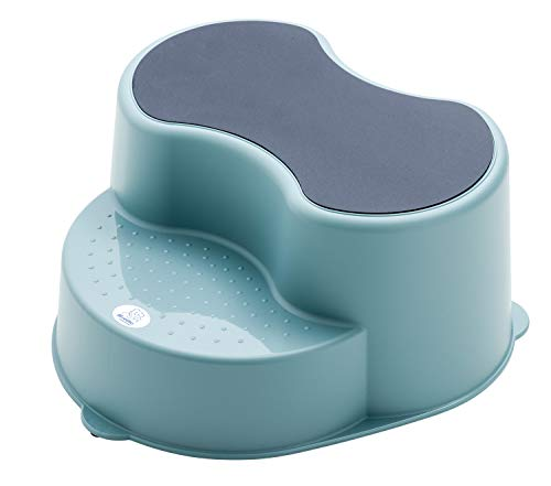 Rotho Babydesign TOP Kinderschemel, Anti-Rutsch-Trittfläche, Lagoon (Blau), 20005 0292