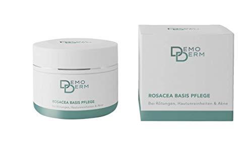 DEMODERM Basis Creme wohltuend bei Rosacea, Pickel, Akne und geröteter Haut - 20 g Creme zur Gesichtspflege - Salbe enthält Zink und Schwefel - Hergestellt in Deutschland