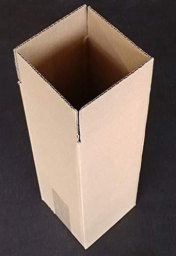 Evergreen Goods Ltd enkele wijn en bier fles verpakking doos (30), bruin, een maat