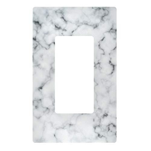 Placa decorativa de pared con interruptor de luz, cubierta de placa de interruptor de mármol blanco, cubiertas de toma eléctrica para dormitorio, cocina, decoración del hogar