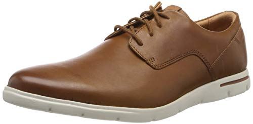 Clarks Herren Vennor Walk Derbys, Braun (Tan Leather), 46 EU