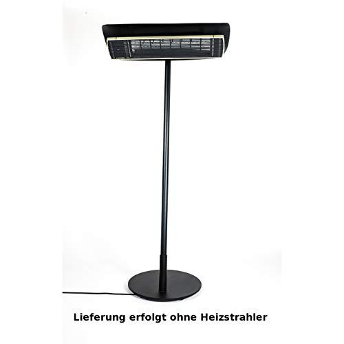 Heatscope Free Design-Ständer für Heizstrahler für Vision 3200 Black-Wood Holzoptik, Fuß schwarz