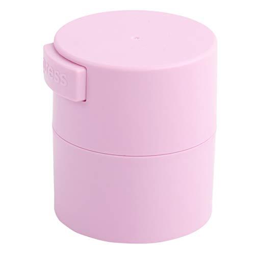 SOLUSTRE Réservoir de Stockage de Colle à Cils Cylindre de Récipient de Pot de Stockage Scellé avec Boucle de Joint pour Greffer Le Maquillage Des Cils (Rose)