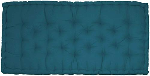 Matelas de sol Coton 60x120x15cm BLEU CANARD