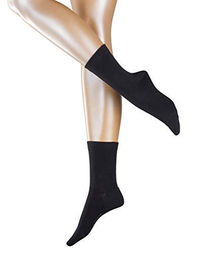 ESPRIT Damen Socken Accent Stripe 2-Pack - Baumwollmischung, 2 Paar, Schwarz (Black 3000), Größe: 35-38