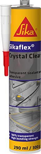 Sikaflex Crystal Clear, Sellador y adhesivo elástico universal transparente, 290 ml