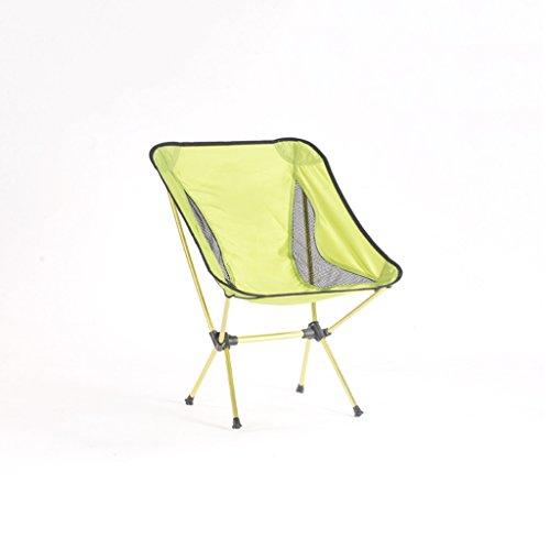 Homelx 7075 Aluminiumlegierungs-Klappstuhl-Fischen-Schemel-tragbarer ultra heller Strand-Stuhl-Freizeit-Skizzierenstuhl-leichter dauerhafter kampierender Stuhl-im Freiensitz (Color : Yellow)