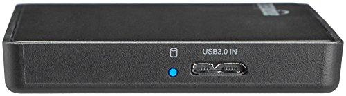 SanDisk Extreme Portable SSD Externe Festplatte 2TB (SSD extern 2,5 Zoll, 550 MB/s Übertragungsraten, stoßfest, AES-Verschlüsselung) grau & Amazon Basics - 6,35 cm SATA-Festplattengehäuse, USB 3.0