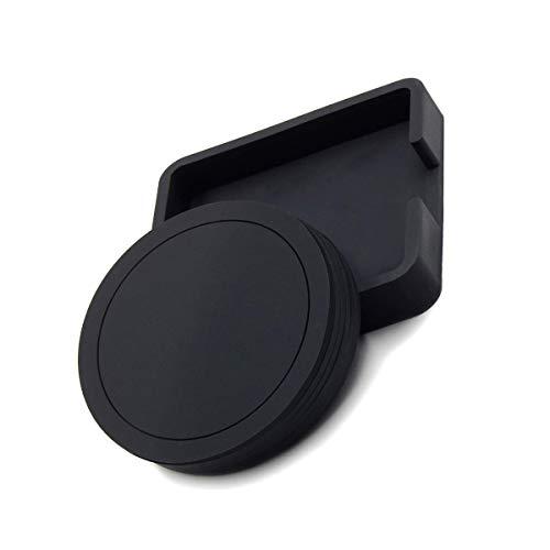 Untersetzer, Gummiuntersetzer, rund, Silikon, mit Tablett, für Kaffee, Bier, Becher, 6-teiliges Set, schwarz