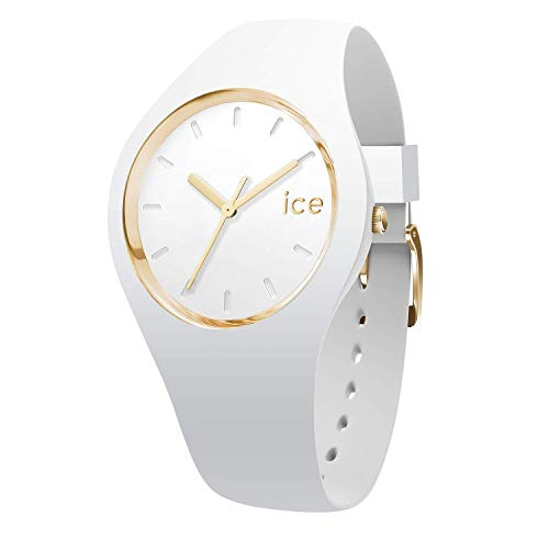 ICE-WATCH - ICE glam White, Reloj blanco para Mujer con Correa de silicona - 000917 (Medium)