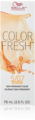Wella Color Fresh Semi-Permanent Color 5 07 Light Brown-Natural Brown for Unisex, 2.5 Ounce