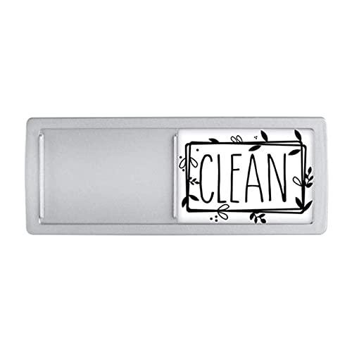 Pomrone Pegatinas Adhesivas Indicadoras Limpias y Sucias con Imán para Lavavajillas, para Lavadora y Lavavajillas, Desliza para Cambiar