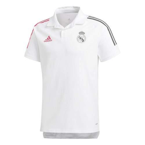 Adidas Real Madrid Temporada 2020/21 Polo Oficial, Unisex, Blanco, XS