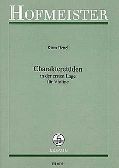 CHARACTERETUEDEN IN DE eerste positie - gearrangeerd voor viool [Noten / Sheetmusic] Componist HERTEL KLAUS